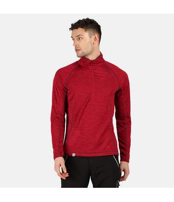 Regatta Mens Yonder Quick Dry Moisture Wicking Half Zip Fleece Jacket (True Red) - UTRG3786