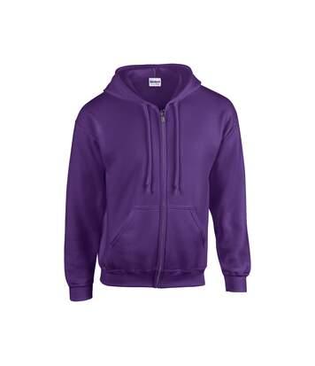 Gildan Heavy Blend Unisex Adult Full Zip Hooded Sweatshirt Top (Forest Green) - UTBC471