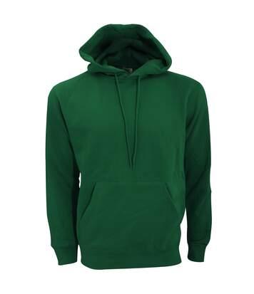 SG Mens Plain Hooded Sweatshirt Top / Hoodie (Bottle Green) - UTBC1072