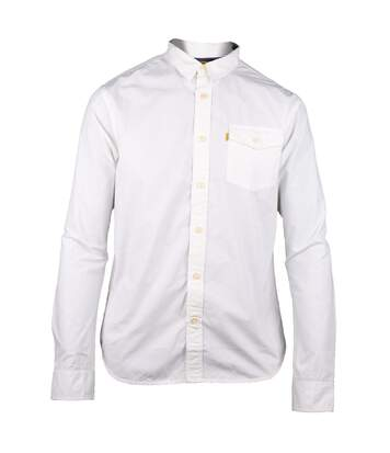 Caterpillar Exchange Mens Long Sleeve Casual Cotton Shirt (White) - UTFS3065