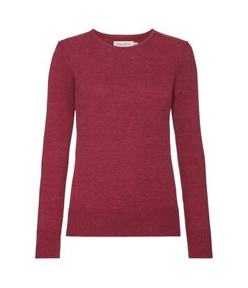 Russell - Pull Col Rond - Femme (Bordeaux chiné) - UTPC3138