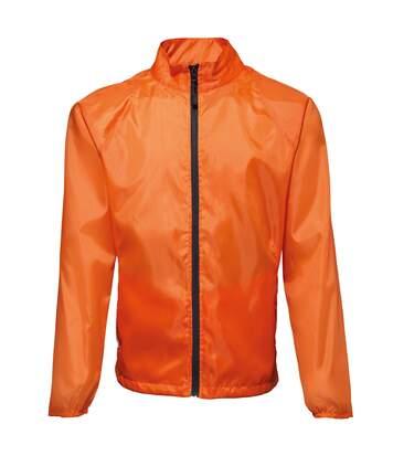 2786 Mens Contrast Lightweight Windcheater Shower Proof Jacket (Amber/ Black) - UTRW2501
