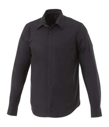 Elevate Mens Hamell Long Sleeve Shirt (Solid Black) - UTPF1841