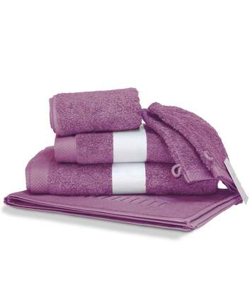 Parure de bain 6 pièces PURE Rose Lavande 550 g/m2
