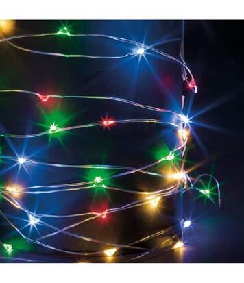 Feeric Christmas - Guirlande Lumineuse Intérieure et Extérieure 30 m 300 MicroLED Multicolore lumière fixe