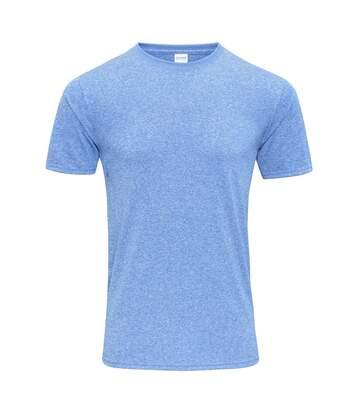 Gildan Mens Core Short Sleeve Moisture Wicking T-Shirt (Heather Sport Royal) - UTBC3715