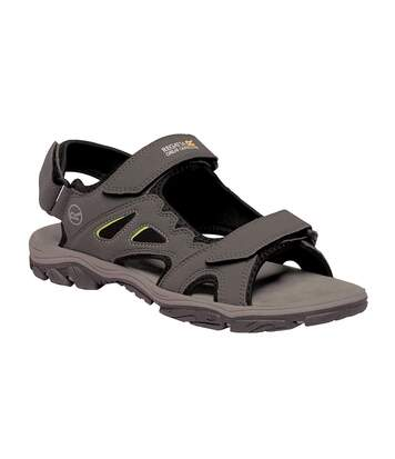Regatta Mens Holcombe Vent Sandals (Briar Grey/Lime Punch) - UTRG4090