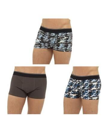 Tom Franks Mens Camo Boxer Shorts (Pack Of 3) (Grey Camo) - UTUT654