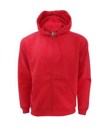 Fruit Of The Loom Mens Zip Through Hooded Sweatshirt / Hoodie (Charcoal) - UTBC360