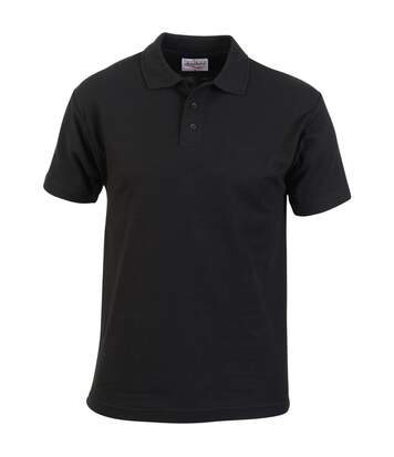 Absolute Apparel Mens Pioneer Polo (Black) - UTAB104