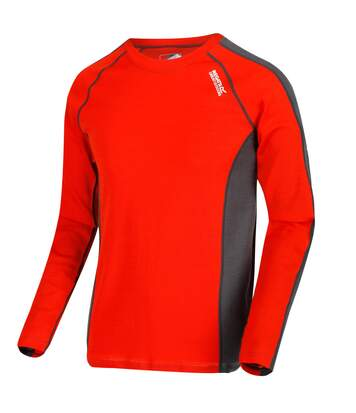 Regatta Great Outdoors Mens Beru Base Layer Shirt (Burnt Salmon/Magnet Grey) - UTRG2861