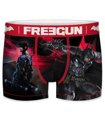 FREEGUN Boxer Homme Microfibre ENE Noir Rouge DC COMICS