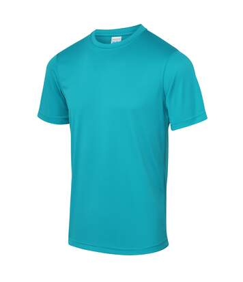 Just Cool Mens Performance Plain T-Shirt (Turquoise Blue) - UTRW683