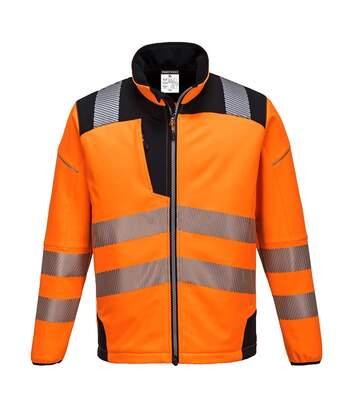 Portwest Mens PW3 Hi-Vis Soft Shell Jacket (Orange/Black) - UTPC3533