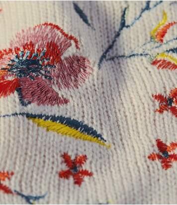 Hímzett kötött tunika fazonú pulóver