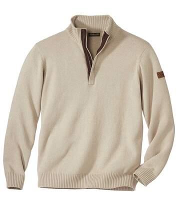 Katoenen trui met schipperskraag