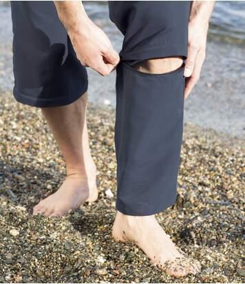 Men's Navy 2-in-1 Convertible Trousers