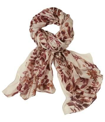 Sjaal met herfstbladeren-motief