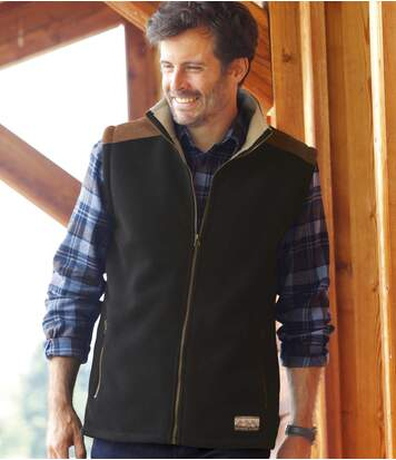 Bodywarmer van fleece en sherpa