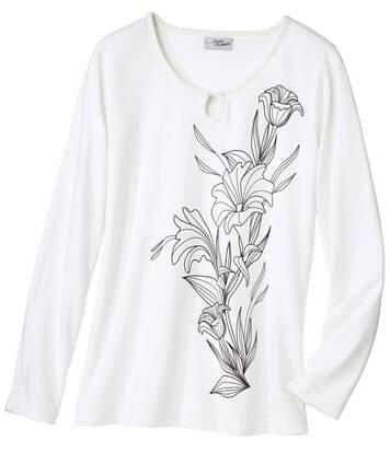 Tričko s potiskem motivu lilií