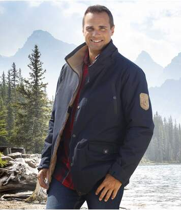 Men's Expedition Navy Blue Parka Coat