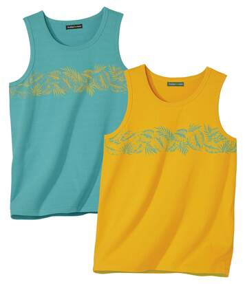 Set van 2 casual tanktops