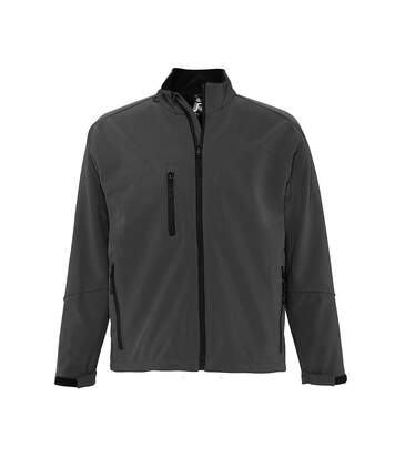 SOLS Mens Relax Soft Shell Jacket (Breathable, Windproof And Water Resistant) (Charcoal) - UTPC347