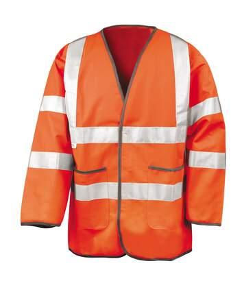 Result Mens High-Visibility Motorway Safety Jacket (EN471 Class 3 Approved) (Fluorescent Orange) - UTRW3220