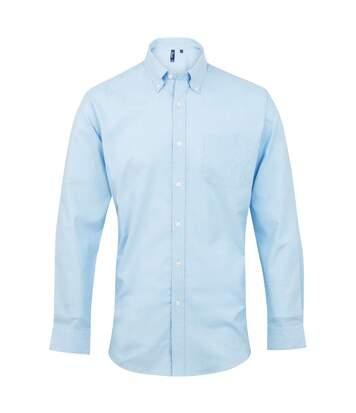 Premier Mens Signature Oxford Long Sleeve Work Shirt (Light Blue) - UTRW2816