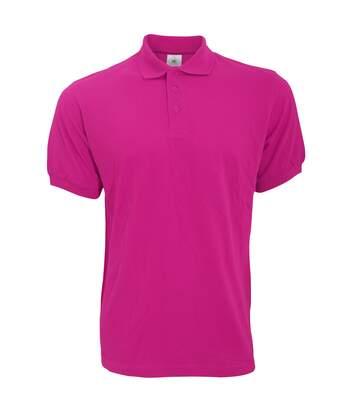 B&C Safran Mens Polo Shirt / Mens Short Sleeve Polo Shirts (Fuchsia) - UTBC103