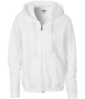 Sweat-shirt zippé à capuche White