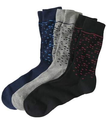 Súprava 3párov ponožiek Fantázia