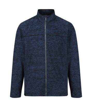 Regatta Mens Earvin Full Zip Broken Stripe Fleece (Blue Wing/Black) - UTRG4596
