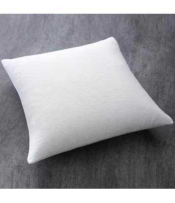 Oreiller moelleux 100% polyester - 60 x 60 cm - Blanc