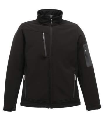 Regatta Standout Mens Arcola 3 Layer Waterproof And Breathable Softshell Jacket (Black/Seal Grey) - UTRG1461