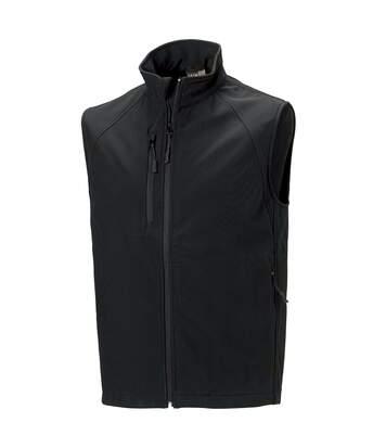 Russell Mens 3 Layer Soft Shell Gilet Jacket (Black) - UTBC1513