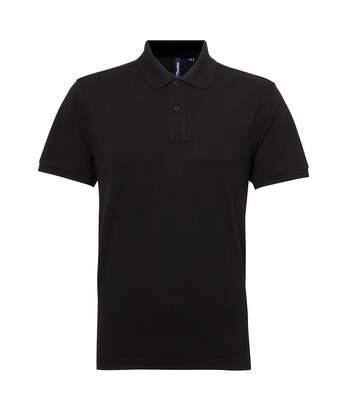 Asquith & Fox Mens Short Sleeve Performance Blend Polo Shirt (Black) - UTRW5350