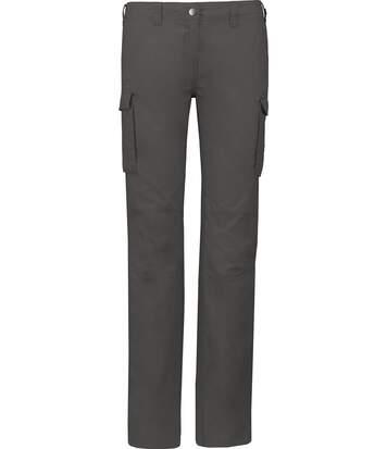 Pantalon léger multipoches pour femme - K746 - gris