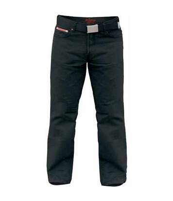 Duke London Mens Kingsize Mario Bedford Cord Trousers With Belt (Black) - UTDC142