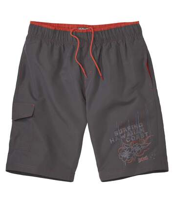 Men's Dark Grey Hawaii Surf Swim Shorts