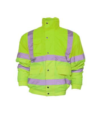 Yoko Mens Hi-Vis Bomber Jacket (Pack of 2) (Hi-Vis Yellow) - UTBC4389