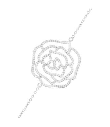 Bracelet chaine argent et oxydes de zirconium La Rosée