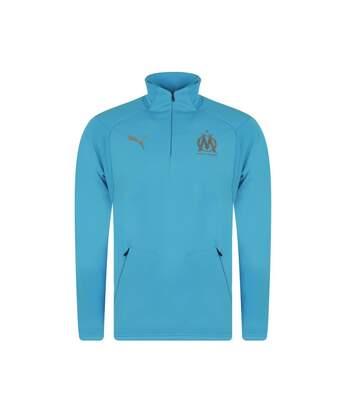 Olympique de Marseille Sweat Polaire Bleu Homme Puma