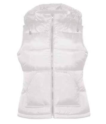 Doudoune femme sans manches - Bodywarmer JW935 - blanc