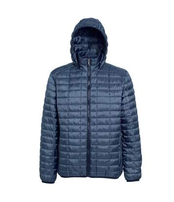2786 Mens Honeycomb Padded Hooded Jacket (Steel) - UTRW5018