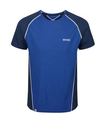 Regatta Mens Tornell II Active T-Shirt (Nautical Blue/Dark Denim) - UTRG4935