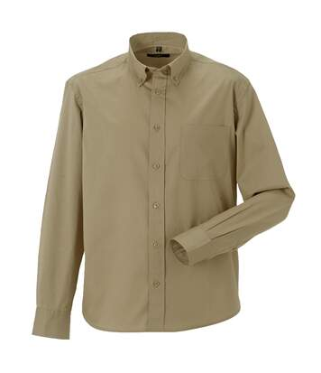 Russell Collection Mens Long Sleeve Classic Twill Shirt (French Navy) - UTRW3256