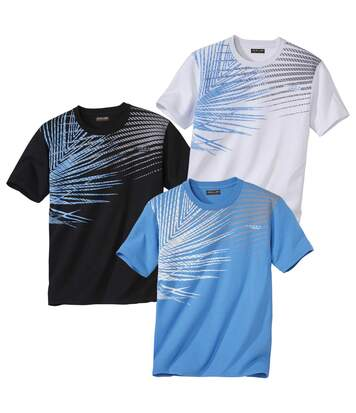 Lot de 3 Tee-Shirts Graphic Imprimés Palm