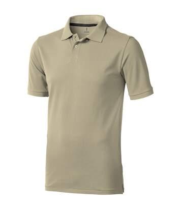 Elevate Mens Calgary Short Sleeve Polo (Pack of 2) (Khaki) - UTPF2498