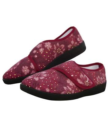 Women's Red Floral Fantasy Slippers